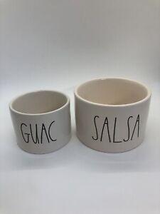 Rae Dunn Guac Salsa bowls spoons NIB by magenta Fab Fit Fun box
