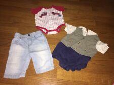 Lot Baby Togs Espirit Carters Sz 3 6 M Boys Baseball Jeans Church Vest Romper