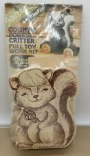 Vintage Walnut Hollow Country Forest Critter Wood Pull Toy Kit Skunk Sealed
