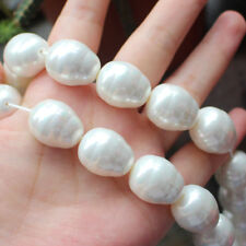 "18x22mm Barouque thread Shell Pearl Loose Beads 15""/38cm 18pcs per strand"