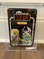STAR WARS AT AT DRIVER ROTJ 48 BACK AFA 75 MOC KENNER VINTAGE 1983 RARE HTF ESB