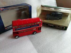 Corgi D957 Morris Van Guernsey Post Office & Corgi Transport Museum Routemaster