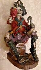 Captain Hook Pirate Skull Figurine Skull Head skeleton Body  on Pirate Treasure