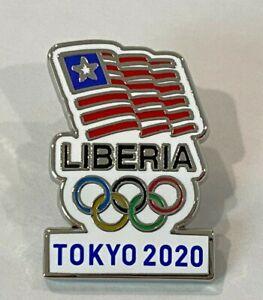 Liberia Tokyo 2020 NOC Pin Badge (Dated) - LAST ONE