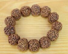 REAL LARGE Rudeaksha Rudraksha Bracelet Beads Prayer Wrist Bracelets Nepal