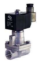 3/4 Inch High Pressure Stainless Hot Water Steam Solenoid Valve NC 24V DC Teflon