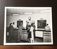 Photograph- TWA Airlines Counter, Lockheed Terminal, Burbank Circa 1940s