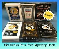 Six Decks Homicide Cold Case Playing Cards New & Sealed Plus A Free Deck for 7