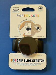 Popsockets Popgrip Slide Stretch - Black - Adjustable Phone Grip & Stand