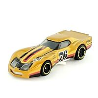 HOT WHEELS '76 Greenwood Corvette Gold Car HW Race Day Chevy 2020 Malaysia Loose