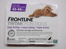 FRONTLINE TRITAK Flea & Tick for L dogs 45-88 lbs 3-dose **SEALED NEW IN BOX**