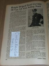 1962 TV ARTICLE~FRED GWYNNE CAR 54 WHERE ARE YOU~HERMAN MUNSTER THE MUNSTERS
