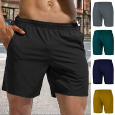 Men Shorts With Pocket Elastic Waist Running Gym Sport Bodybuilding Casual Pant