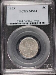 1903 Liberty Nickel, PCGS MS64