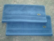 2 BLUE LACOSTE HAND TOWELS