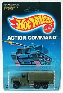 Hot Wheels Troop Convoy Action Command Series #9379 New NRFP HTF 1986 Olive 1:64