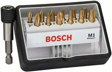 Bosch M1 MaxGrip PH PZ TORX Robust Line 25mm Screw Bit Set + Bit Holder