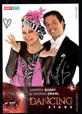 Andrea Buday und Thomas Kraml Dancing Star Original Signiert ## BC 19361