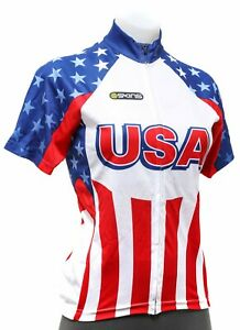 Skins Team USA Short Sleeve Cycling Jersey Women XS SMALL LARGE Road Bike Race
