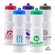 100 Custom USA Made BPA Free 28 oz Sports Water Bottle Printed w/ Logo /Txt