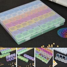 56 fach Aufbewahrungsdosen Fächerboxen Perlenbox Diamond Nail Art Box Sortierbox