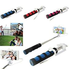 Selfie Stick Monopod Folding Extendable Wired Remote Shutter For iPhone 5s 6 6s