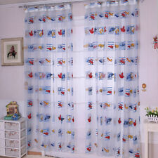 Cartoom Car Door Window Divider Sheer Voile Curtain Kid Room Nursery Panel Drape