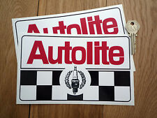 AUTOLITE Plug & chequered 8 inch racing car stickers