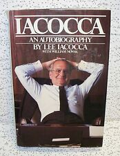 Iacocca An Autobiography by William Novak Hardback Book Mopar Lee Iacocca Dodge