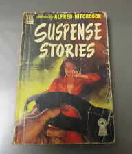 1949 SUSPENSE STORIES 13 Tales Tension Alfred Hitchcock DELL Paperback VG- 192p