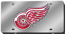 Detroit Red Wings Silver Laser-Cut License Plate [NEW] Metal Car Auto NHL CDG