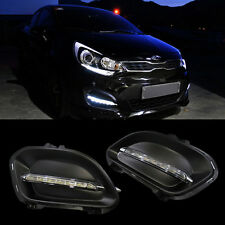LED Light Daylight DRL + Cover For KIA 2012-2015 RIO Hatch Back 5DOOR / PRIDE