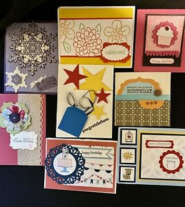 8 Demonstrator quality card fronts swaps made w/ Stampin' Up!