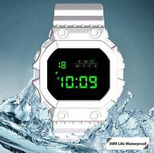 Orologio LED HONHX Total White Bianco Digitale Impermeabile 30m Sportivo Fitness