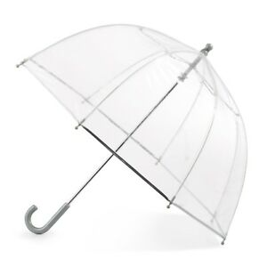Girls Clear Umbrella Totes Kids Bubble Youth Juniors Childrens See Through Dome