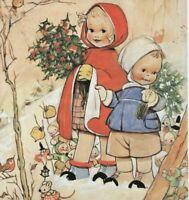 MABEL LUCIE ATTWELL CHARMING ORIGINAL BOOK PRINT 1990's Christmas Fun