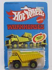 HOT WHEELS 1983 WORKHORSES CAT DUMP TRUCK YELLOW