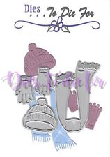 Dies...to die for - metal cutting craft die Winter Clothes Hat Scarf and Gloves