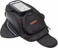 Motorcycle Tank Bag - Saddle Black Motorbike Bag with Bigger Window for phone