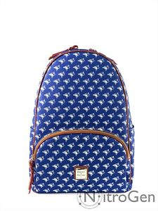Dooney & Bourke MLB Blue Jays Coated Canvas / Leather Backpack Brand New