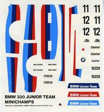BMW  320 GR.5  N°11/12 JUNIOR TEAM RACE DRM 1977 SURER MINICHAMPS DECALS 1/43