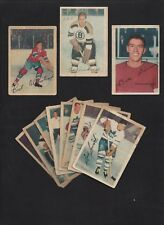 1953 Parkhurst Lot of 11 Cards: #100 Quackenbush #38 Dineen #19 Olmstead 1953-54