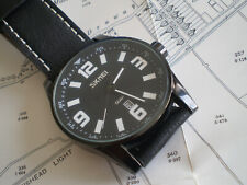 Gents Military/Aviator type watch on leather strap