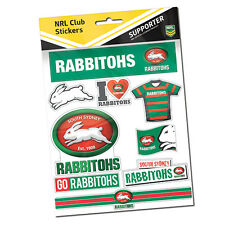 Official NRL South Sydney RABBITOHS Deluxe Club Stickers Sticker Sheet Pack