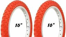 "New RED Kids Bicycle Tires and Tubes 16 x 2.125 Fits 1.75 1.95 BMX 16"" BOY's"