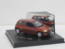 "Renault Clio ""98"", braunmetallic, ohne OVP + Vitrine, Vitesse, 1:43"