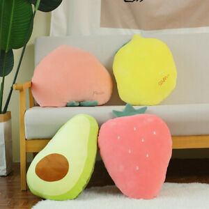 New Fruit Pillow Cartoon Creative Cushion Office Strawberry Sofa Plush Toys