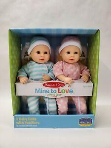 "Melissa & Doug Luke & Lucy Twin 15"" Dolls - NEW! - Fast Shipping"