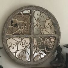More details for aged moroccan style  rustic antique gothic shabby chic style wall mirror