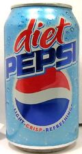 "EMPTY UNOPENED OLD STYLE 12oz 355ml Can ""Standard"" American Diet Pepsi USA 2005"